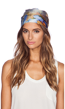 Eugenia Kim Gigi Head Scarf in Blue & Multi
