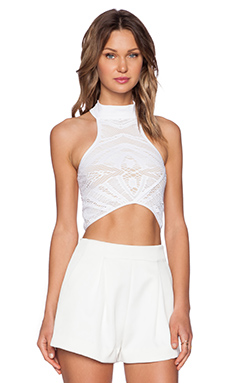 Whitney Eve Windsor Crop Top in White