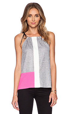Whitney Eve Sugar Crane Top in Grey & White
