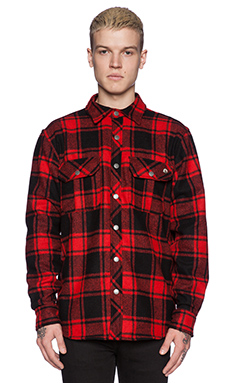 Ever Chuy Flannel Shirt Jacket in Red Plaid
