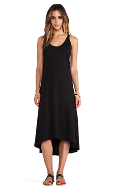 EVER High-Low Tank Dress in Black
