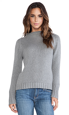 EVER Lizzy Crop Side Zip Sweater in Charcoal