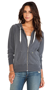 EVER Dakota Thermal Lined Zip-Up Hoodie in Granite