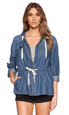 EVER Splendour Drawstring Jacket in Ocean Wash