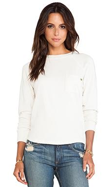 EVER Ellis Zip Back Pullover in Vintage White