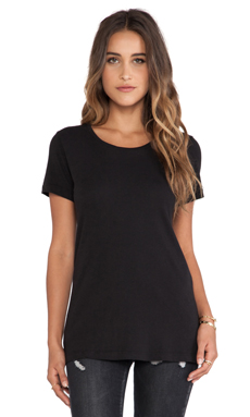 EVER Baxter Short Sleeve Crew in Black