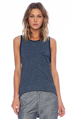 EVER Holland Pocket Tank in Navy Stripe