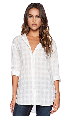 EVER Lauren Oversized No PKT Shirt in White