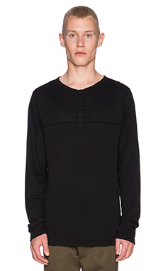 Ezekiel Wing Man Henley in Black