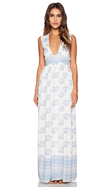 FAITHFULL THE BRAND Night Orchard Maxi Dress in Sunfaded Print