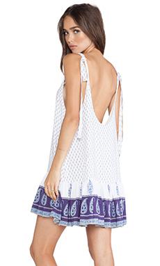 FAITHFULL THE BRAND Elixir Dress in Water & Earth Purple Print