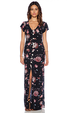 FAITHFULL THE BRAND Calypso Maxi Dress in Nightingale Print