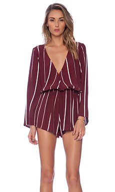 FAITHFULL THE BRAND x REVOLVE Vision Playsuit in Sarah Stripe Burgundy