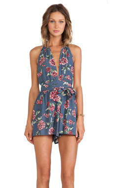 FAITHFULL THE BRAND Lovely Playsuit in Delicacy Print