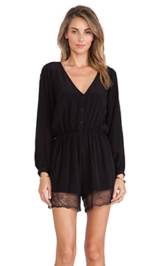 FAITHFULL THE BRAND Softly Playsuit in Black