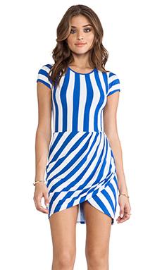 FAIRGROUND Mandala Dress in Blue Stripe