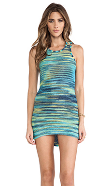 FAIRGROUND Fractual Forest Dress in Tie Dye Rainbow Blue