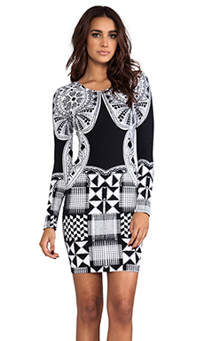 FAIRGROUND Soma Bodycon Dress in Dali Rama