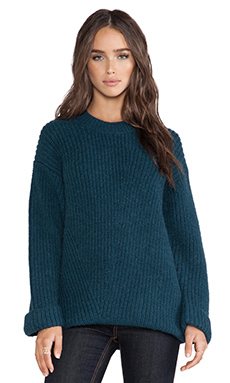 Faith Connexion Big Gauge Angora Sweat in Blue Canard