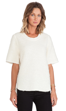 Faith Connexion Curly Wool Top in White