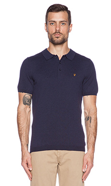 FARAH VINTAGE The Affery Polo in True Navy