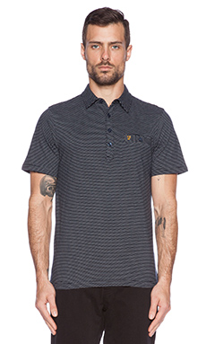 FARAH VINTAGE The Kasmin Polo in True Navy