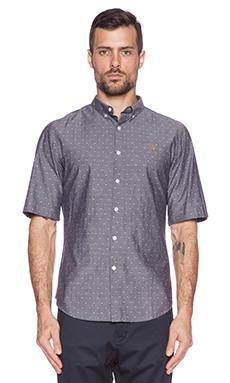 FARAH VINTAGE The Birch Button Down in Dark Indigo