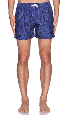 FARAH VINTAGE The Rufus Concrete Swim Short in Clematis