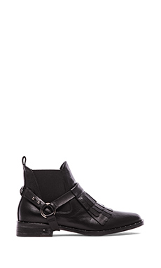 Freda Salvador Fringe Bootie in Black Calf