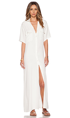 FRAME Denim Le Shirt Dress en Blanc