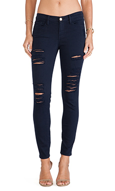 FRAME Denim Le Color Ripped in Deep Blue Dive
