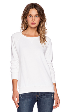 FRAME Denim Le Boyfriend Sweatshirt in Blanc