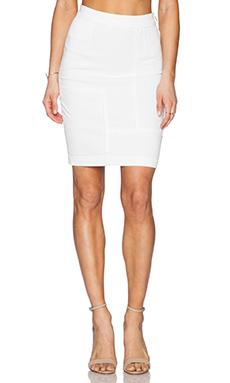 FRAME Denim Le High Pencil Skirt in Blanc