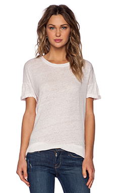 FRAME Denim Le Boyfriend Tee in Blush Pink