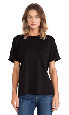 FRAME Shirt Le Boyfriend Tee in Noir