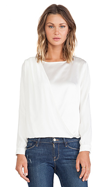 FRAME Shirt Le Drape Top in Off White