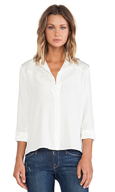 FRAME Shirt Le Western Top in Off White