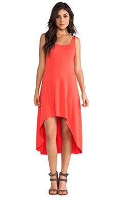 Feel the Piece Hi-Lo Tank Dress in Daiquiri