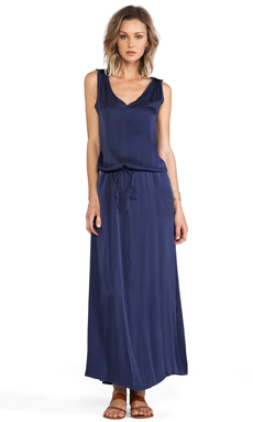 Feel the Piece Athena Maxi Dress in Blue Steel