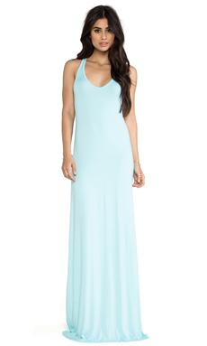 Feel the Piece V Maxi Dress in Aquatic