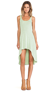 Feel the Piece Hi Lo Dress in After Glow & Grey Stripe