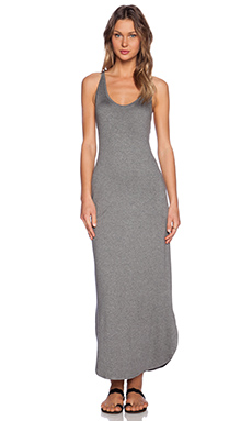 Feel the Piece Trudy Maxi Dress in Medium Heather