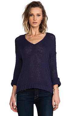 Feel the Piece Hailey Pullover Sweater in Midnight
