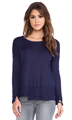 Feel the Piece Sadie Sweater in Navy