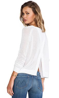 Feel the Piece Zeller Sweater in Optic White