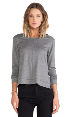 Feel the Piece Cora Sweater in Medium Heather