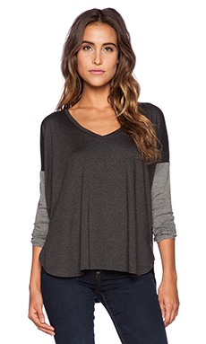 Feel the Piece Scout Sweater in Charcoal & Medium Heather