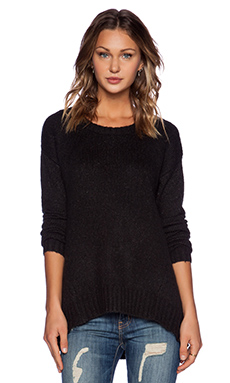 Feel the Piece Waverly Sweater in Black Heather