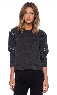 Feel the Piece Crawford Zip Sweatshirt in Charcoal
