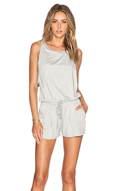 Feel the Piece Raegen Romper in Heather Grey